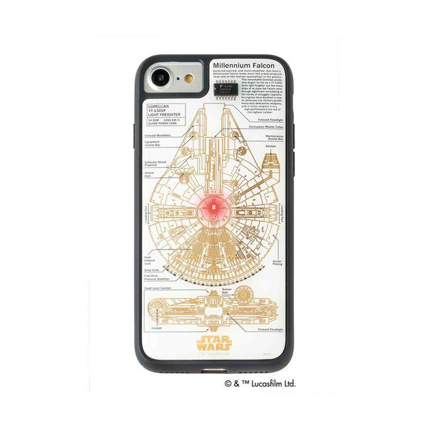 STAR WARS スター・ウォーズ グッズコレクション FLASH M-FALCON 基板アート iPhone 7/8ケース 白 F7/8W 送料無料!