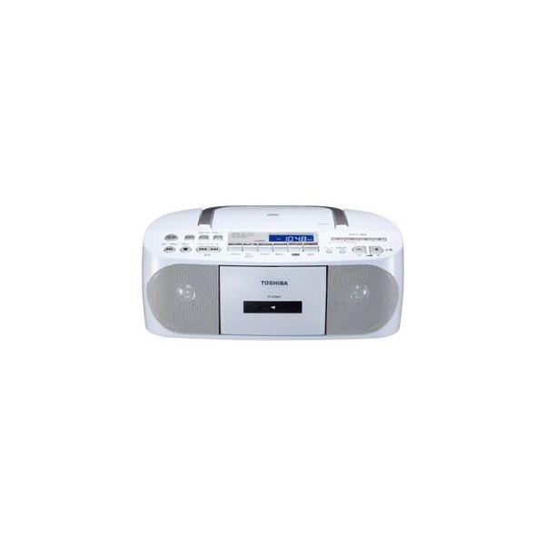 日本未発売 CDラジカセ CUTEBEAT 宅配便送料無料 ホワイト TY-CDH7-W 送料込 TOSHIBA