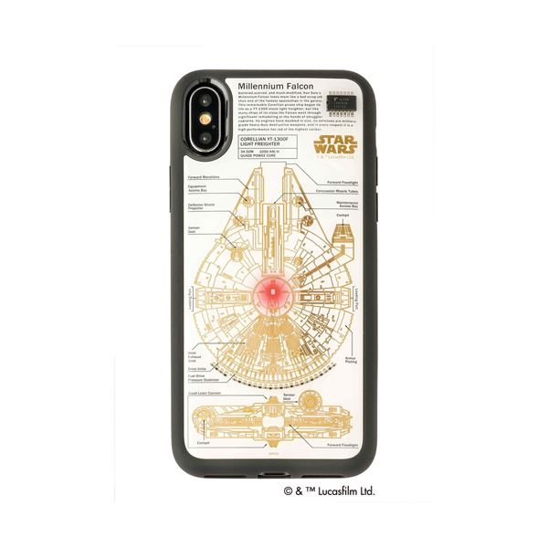 STAR WARS スター・ウォーズ グッズコレクション FLASH M-FALCON 基板アート iPhone Xケース 白 F10W 送料無料!