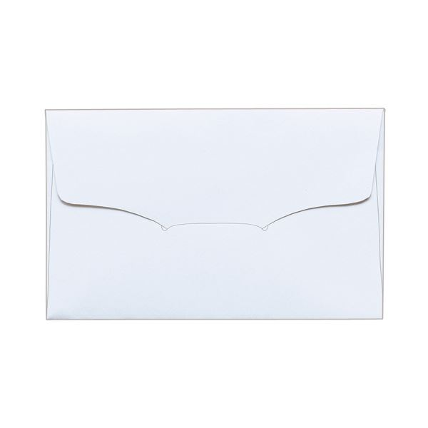 (まとめ) TANOSEE 名刺型封筒112×70mm 上質紙 104.7g 1セット(100枚:10枚×10パック) 【×10セット】 送料無料!