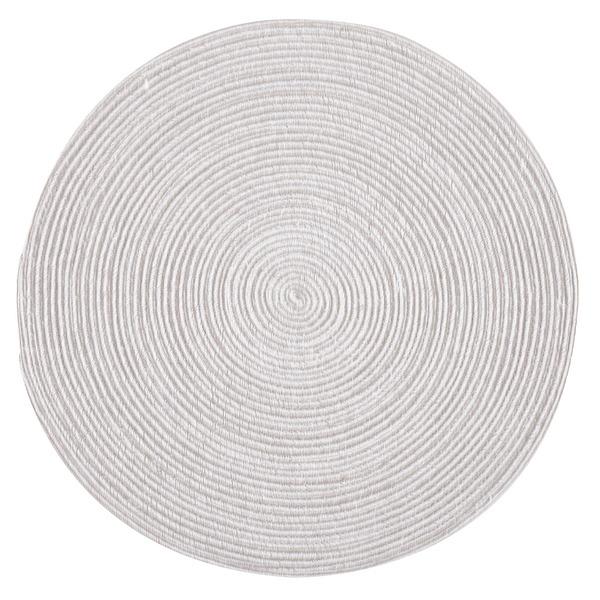 コットン100%のラウンドラグ インド綿ラグ ブレイド グレー 上品 ホワイト 代引不可 直径約140cm 円形 完売 送料込