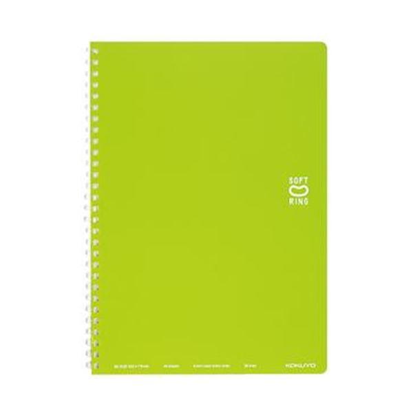 (まとめ)コクヨ ソフトリングノート(ドット入り罫線)セミB5 B罫 40枚 ライトグリーン ス-SV301BT-Lg 1セット(5冊)【×10セット】 送料無料!