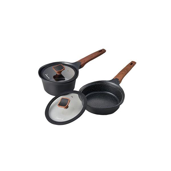 ララミー鍋+フライパンセット 630230【代引不可】 送料込!