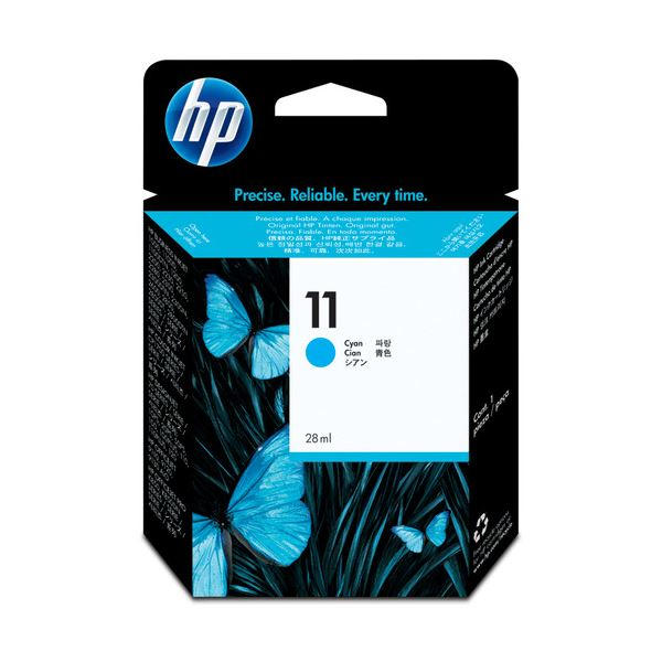 (まとめ) HP11 インクカートリッジ シアン 28ml 染料系 C4836A 1個 【×10セット】 送料無料!