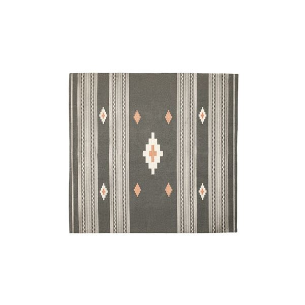 モダン ラグマット/絨毯 【180×180cm TTR-162A】 正方形 綿 インド製 〔リビング ダイニング フロア 居間〕 送料込!
