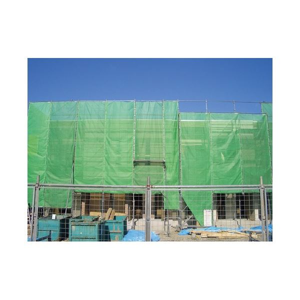 (まとめ)萩原工業 ソフトメッシュシート グリーン 3.6m×5.4m【×5セット】 送料込!