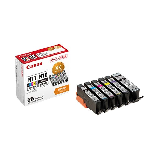 (まとめ)キヤノン インクタンクXKI-N11+N10/6MP 6色マルチパック 2172C004 1箱(6個:各色1個)【×3セット】 送料無料!