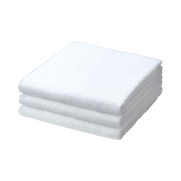 (まとめ) TANOSEE バスタオル ホワイト 1パック(3枚) 【×10セット】 送料無料!
