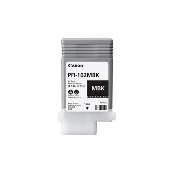 (まとめ)キヤノン インクタンク PFI-102顔料マットブラック 130ml 0894B001 1個【×3セット】 送料無料!