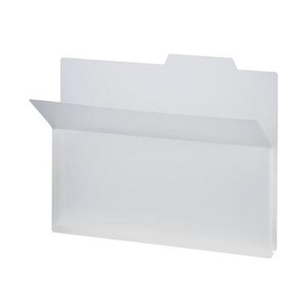 (まとめ)TANOSEE PP製持ち出しフォルダーA4 ホワイト 1セット(25冊:5冊×5パック)【×5セット】 送料無料!