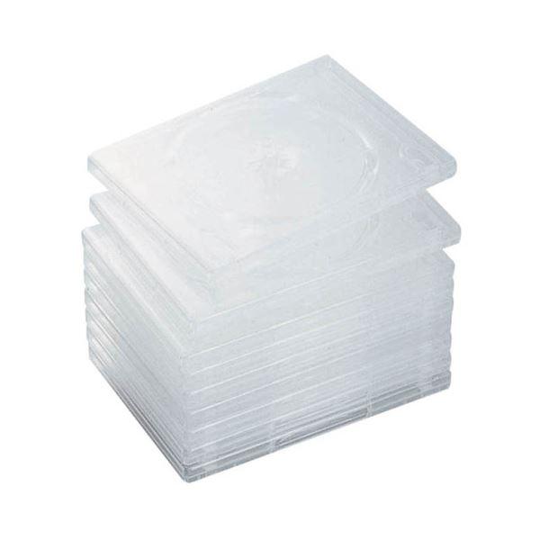 (まとめ) エレコム DVDトールケース 2枚収納クリア CCD-DVD06CR 1パック(10枚) 【×10セット】 送料無料!
