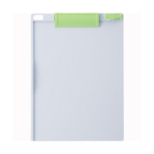(まとめ) ソニック クリップボード A4タテ 緑×ライトグレー CB-349-GL 1枚 【×30セット】 送料無料!