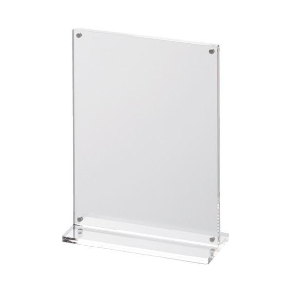 (まとめ)スマイル アクリルT型マグネットサインホルダーA6(×20セット) 送料無料!