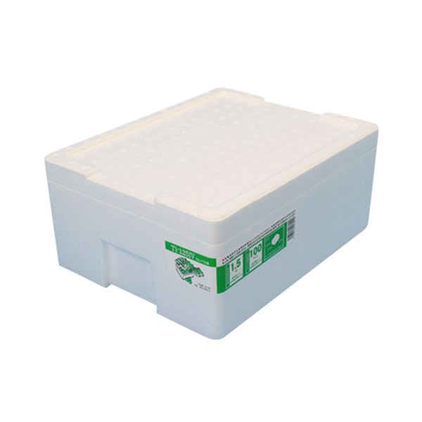 (まとめ)石山 発泡容器 なんでも箱 12.7L ホワイト TI-125IV 1個【×10セット】 送料込!