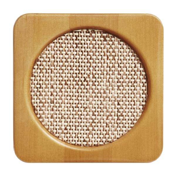 (まとめ) コースター/キッチン用品 【ネット 角】 底径7.5cmまで対応 木製×コルク 編み細工敷き 【400個セット】 送料込!