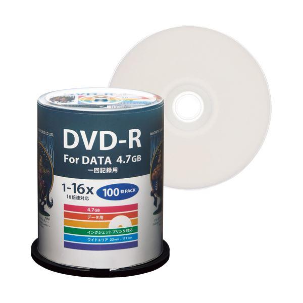 (まとめ) ハイディスク データ用DVD-R4.7GB 1-16倍速 ホワイトワイドプリンタブル スピンドルケース HDDR47JNP1001パック(100枚) 【×5セット】 送料無料!