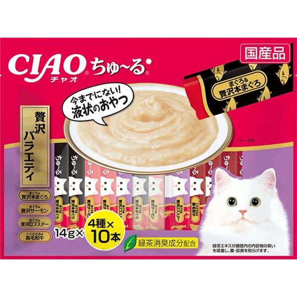 (まとめ)ちゅ~る 40本入り 贅沢バラエティ (ペット用品・猫フード)【×8セット】 送料込!