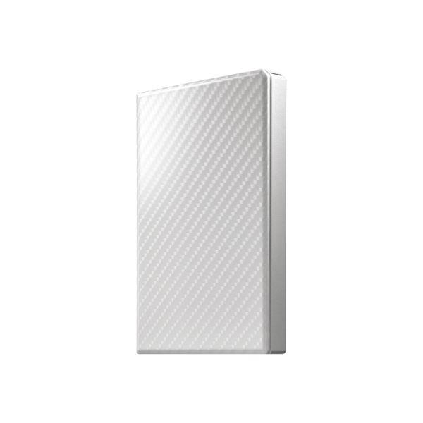 アイ・オー・データ機器 USB3.1 Gen1対応ポータブルハードディスク「高速カクうす」 セラミックホワイト2TB 送料無料!