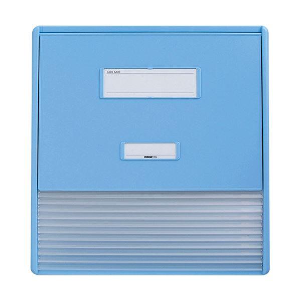 リヒトラブ カラーカードインデックスA3(A4タテ2面)11ポケット ブルー HC113C-2 1冊 送料無料!