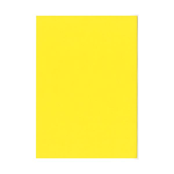 (まとめ)北越コーポレーション 紀州の色上質A4T目 薄口 黄 1箱(4000枚:500枚×8冊)【×3セット】 送料込!