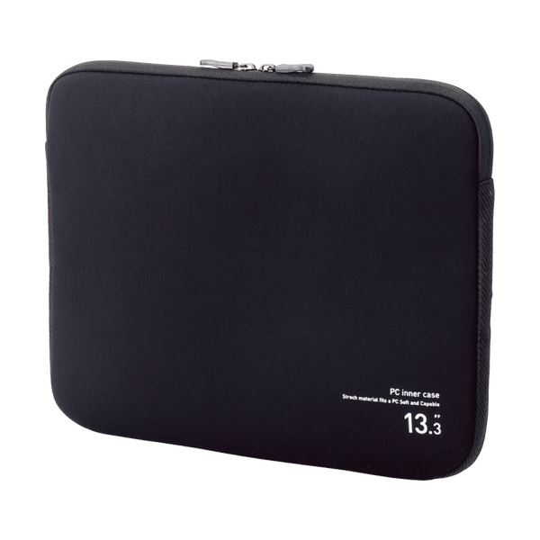 (まとめ) エレコム ネオプレンPCインナーバッグ13.3インチノートPC対応 ブラック BM-IBNP13BK 1個 【×10セット】 送料無料!