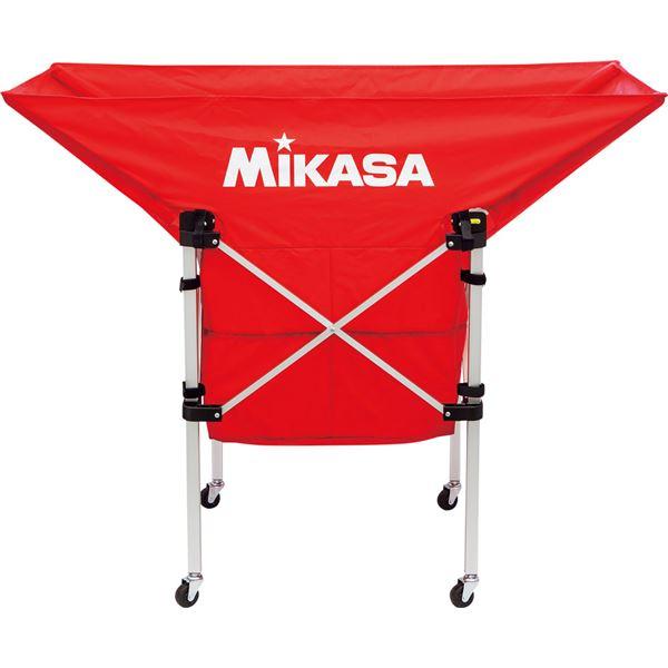 MIKASA(ミカサ)【フレーム・幕体・キャリーケース3点セット】携帯用折り畳み式ボールカゴ(舟型) レッド【ACBC210R】 送料込!