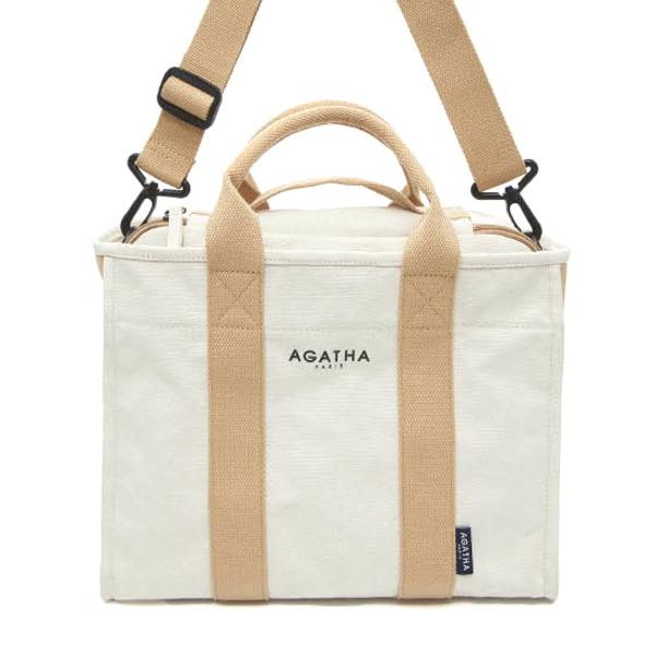 AGATHA(アガタ)AGT202-522 ショルダーストラップ付キャンバストートバッグ 送料無料!