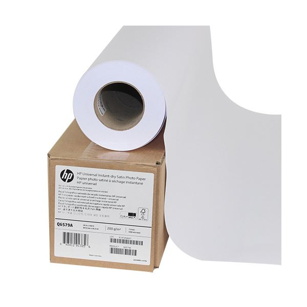 HP スタンダード速乾性半光沢フォト用紙24インチロール 610mm×30m Q6579A 1本 送料無料!