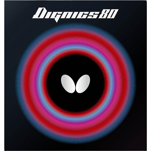 Butterfly(バタフライ) ハイテンション裏ラバー DIGNICS 80 ディグニクス80 レッド 厚 送料無料!