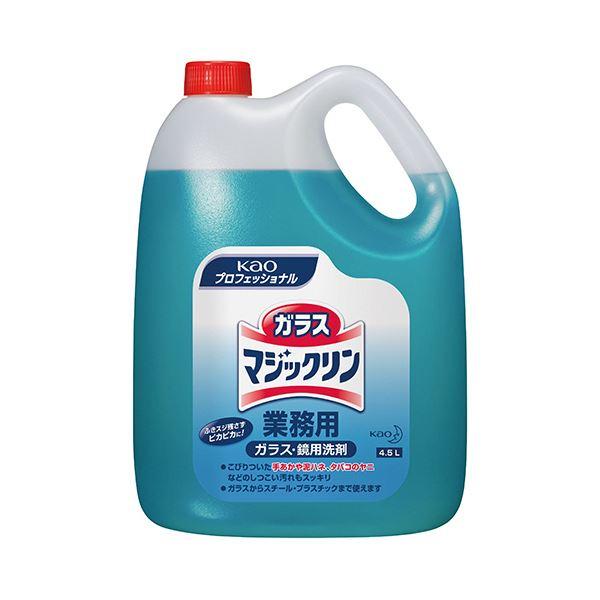 (まとめ) 花王 ガラスマジックリン 業務用 4.5L 1本 【×5セット】 送料無料!