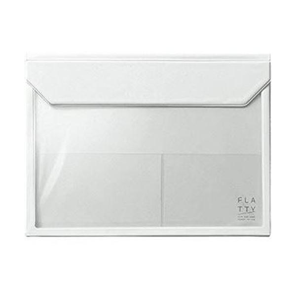 (まとめ)キングジム かさばらないバッグインバッグフラッティ A4ヨコ 白 5366シロ 1個【×10セット】 送料無料!