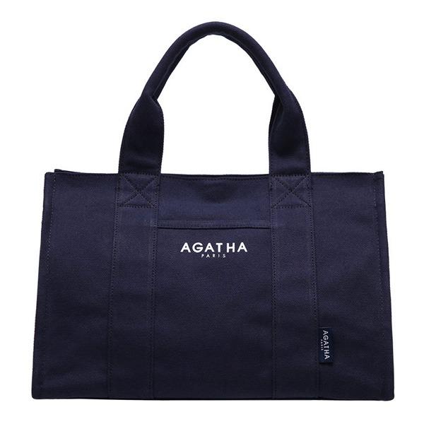AGATHA(アガタ)AGT192-509 スクエアタンブラーエコトートバッグ/ネイビーAタイプ 送料無料!