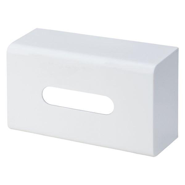 (まとめ) ティッシュケース/ボックスティッシュホルダー 【マグネット式】 ホワイト 『Mag-On』 【15個セット】 送料込!