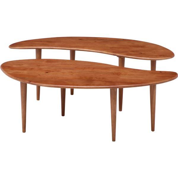 Natural Signature センターテーブル 超歓迎された お得なキャンペーンを実施中 COFFEE 送料込 代引不可 ミディアムブラウン