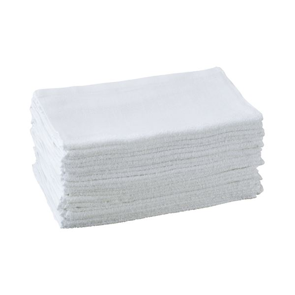 (まとめ) オーミケンシ 業務用タオル 34×85cm ホワイト 1セット(24枚) 【×5セット】 送料無料!
