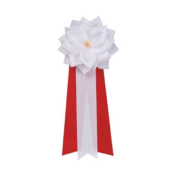 (まとめ)銀鳥産業 徽章リボン バラ 小 タレ459-231 白(×50セット) 送料無料!
