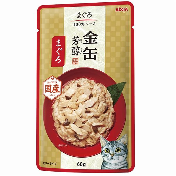 (まとめ)金缶芳醇パウチ まぐろ 60g【×96セット】【ペット用品・猫用フード】 送料込!