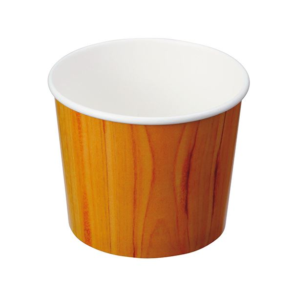(まとめ)サンナップ 木柄スープカップ 395ml SC3940KN 1パック(40個)【×10セット】 送料無料!