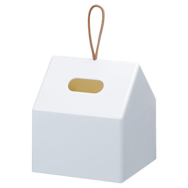 ティッシュケース/ロールティッシュペーパーボックス 【ホワイト】 幅145mm 底面滑り止め付き HOME 【18個セット】 送料込!