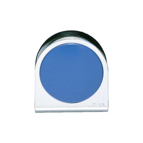 (まとめ)プラス カラーマグネットクリップ 送料無料! 大 10個【×5セット】 ブルー