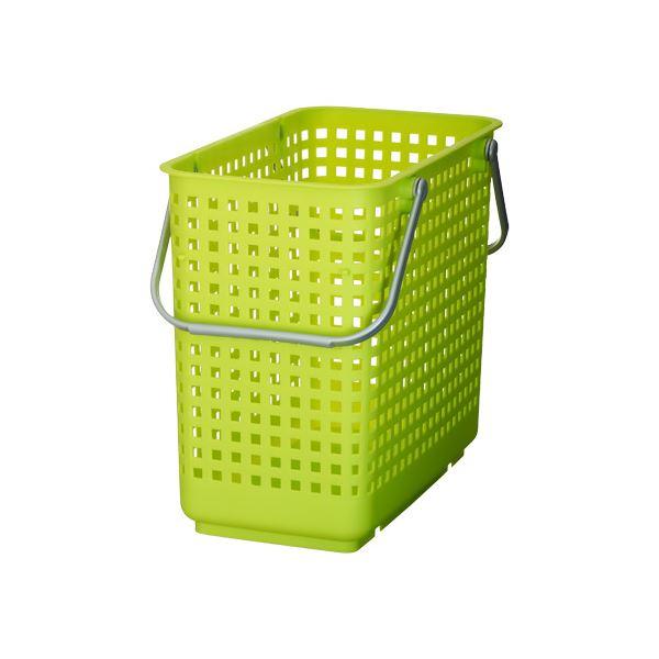 (まとめ) ランドリーバスケット/洗濯かご 【L グリーン】 スタッキング可 SCB-12 『スカンジナビアスタイル』 【10個セット】 送料込!