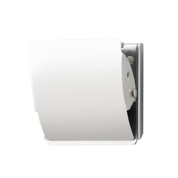 M 10個【×5セット】 白 送料無料! (まとめ)プラス マグネットクリップCP-040MCR