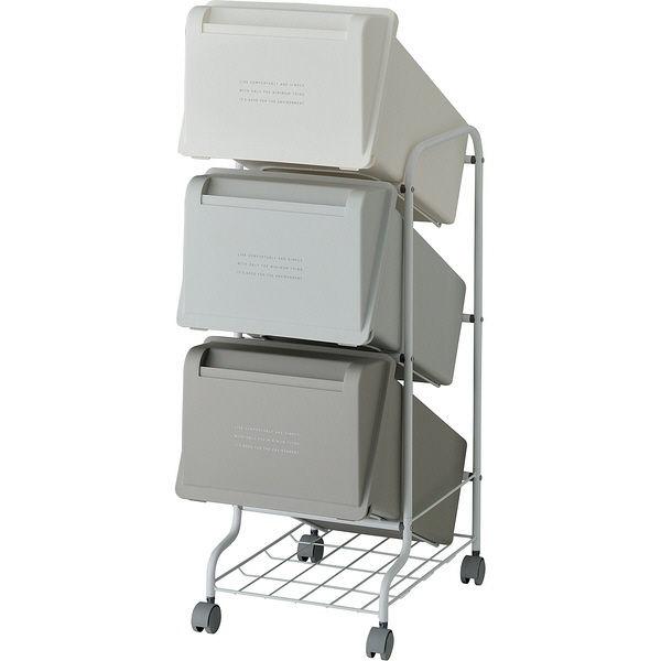 リス コンテナスタイル5 CS5-60 MX6 3段ゴミ箱 GCON156【代引不可】 送料無料!