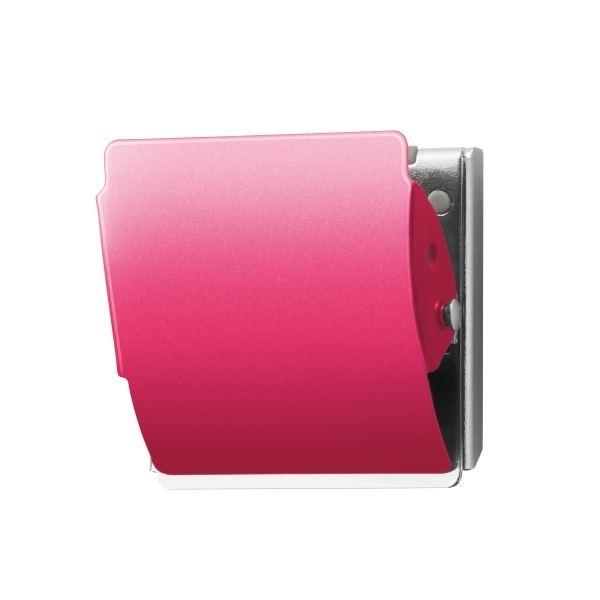 (まとめ)プラス マグネットクリップCP-047MCR L ピンク10個【×5セット】 送料無料!