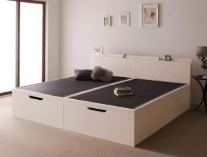お客様組立 美草・日本製_大容量畳跳ね上げベッド Sagesse サジェス セミダブル 深さラージ