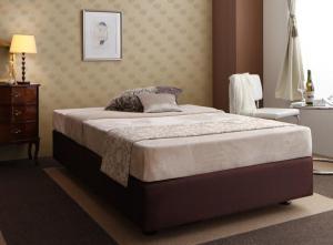 ホテル仕様デザインダブルクッションベッド ボンネルコイルマットレス付き シングル