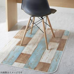 拭ける・はっ水 古木風キッチンマット felmate フェルメート マット デスク下マット 100×150cm
