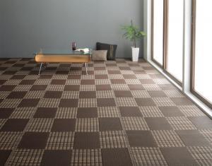 洗える い草風モダンデザインラグ Duffle ダッフェル 江戸間8畳(348×352cm)