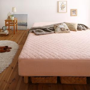 素材・色が選べるカバーリング脚付きマットレスベッド マットレスベッド ボンネルコイルマットレスタイプ タオル素材 セミダブル 22cm