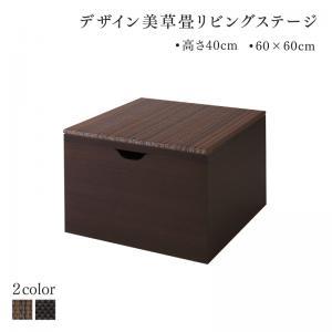 国産 収納付きデザイン美草畳リビングステージ 風凛 フーリン 畳ボックス収納 60×60cm ハイタイプ